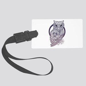 The Celtic Owl Large Luggage Tag