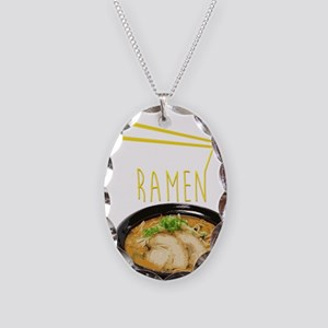 Ramen Bowl Necklace Oval Charm
