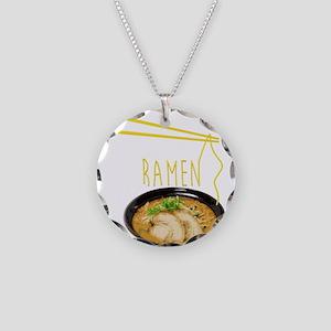 Ramen Bowl Necklace Circle Charm