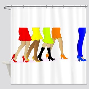 Womens Legs Shower Curtain