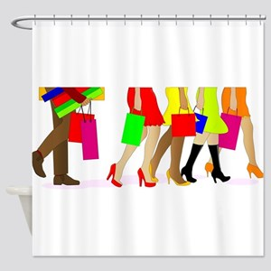 Shopping Legs Shower Curtain