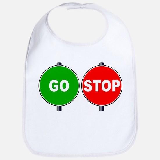 Stop Go Sign Baby Bib