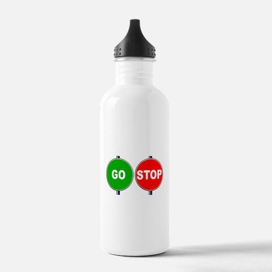 Stop Go Sign Water Bottle