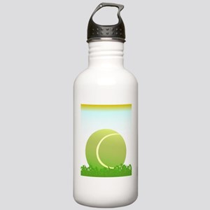 Tennis Ball On Grass Stainless Water Bottle 1.0L