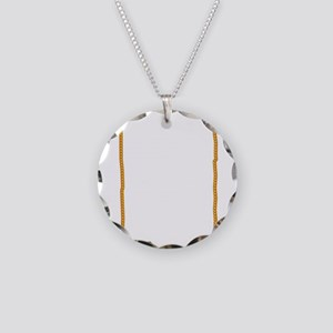 Gold Watch Chain Necklace Circle Charm
