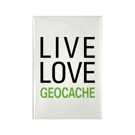 Live Love Geocache Rectangle Magnet