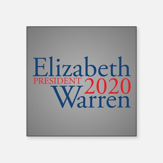 "Elizabeth Warren 2020 Square Sticker 3"" x 3"""