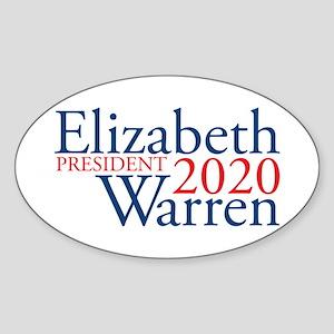 Elizabeth Warren 2020 Sticker (Oval)