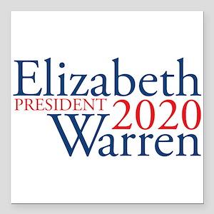 "Elizabeth Warren 2020 Square Car Magnet 3"" x 3"""