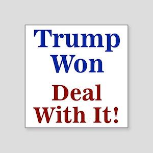 Trump Won Deal With It! Sticker
