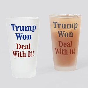Trump Won Deal With It! Drinking Glass