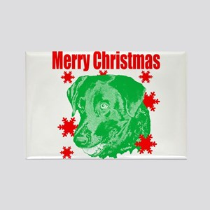 Merry Christmas lab Rectangle Magnet