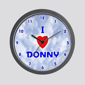 I Love Donny (Blue) Valentine Wall Clock