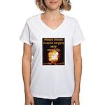 Be Careful Women's V-Neck T-Shirt