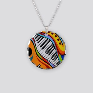 Musical Instruments Necklace Circle Charm