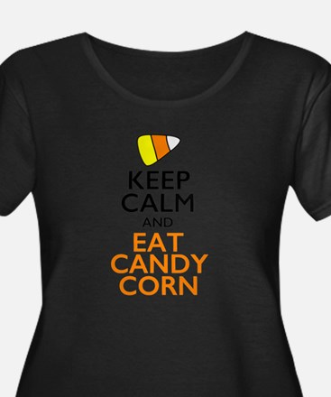 Keep Calm and Eat Candy Corn Plus Size T-Shirt