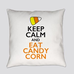 Keep Calm and Eat Candy Corn Everyday Pillow