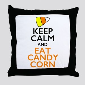 Keep Calm and Eat Candy Corn Throw Pillow