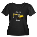 Duck Boy Women's Plus Size Scoop Neck Dark T-Shirt