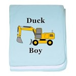 Duck Boy baby blanket