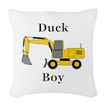 Duck Boy Woven Throw Pillow