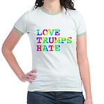 Love Trumps Hate Jr. Ringer T-Shirt