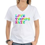Love Trumps Hate Women's V-Neck T-Shirt