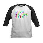 Love Trumps Hate Kids Baseball Jersey
