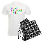 Love Trumps Hate Men's Light Pajamas