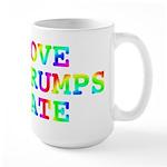 Love Trumps Hate Large Mug