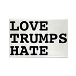 Love Trumps Hate Rectangle Magnet (10 pack)