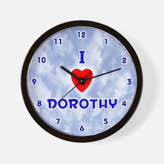 I Love Dorothy (Blue) Valentine Wall Clock