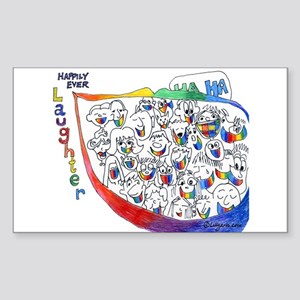 Happily Ever Laughter Rectangle Sticker