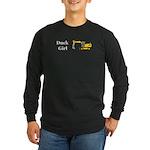 Duck Girl Long Sleeve Dark T-Shirt