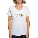 Duck Girl Women's V-Neck T-Shirt