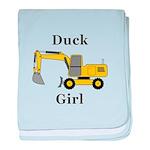 Duck Girl baby blanket