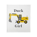 Duck Girl Throw Blanket