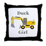 Duck Girl Throw Pillow