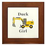 Duck Girl Framed Tile
