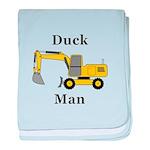 Duck Man baby blanket