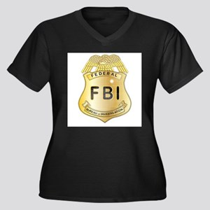 FBI Badge Plus Size T-Shirt