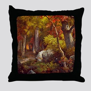 October by William Trost Richards Throw Pillow