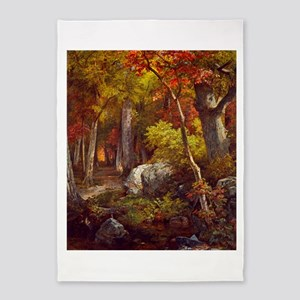 October by William Trost Richards 5'x7'Area Rug