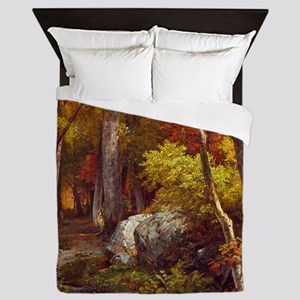 October by William Trost Richards Queen Duvet