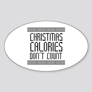 Christmas Calories Sticker (Oval)