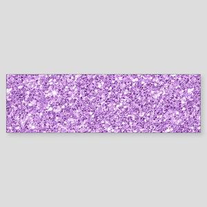 Purple glitter texture print Bumper Sticker