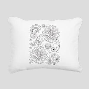 Flower Garden Galaxy Rectangular Canvas Pillow