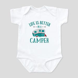 Life's Better Camper Infant Bodysuit
