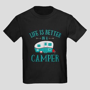 Life's Better Camper Kids Dark T-Shirt