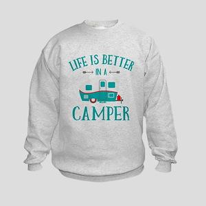 Life's Better Camper Kids Sweatshirt